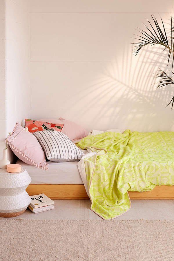 Neon Geo Bed Blanket | Urban Outfitters