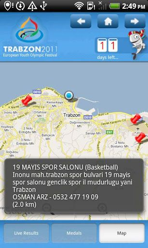 The European Youth Olympic Festival will be held in Trabzon, Turkey between the 23rd and 30th of July, 2011.  EYOF 2011 Trabzon organization will start with Opening Ceremony on 23rd of July and finish with Closing Ceremony on 30th of July.<p>The EYOF 2011 application aims to give dynamic information about the organization and official results of games.<p>-<p>Avrupa Gençlik Olimpik Oyunları Festivali 23 – 30 Temmuz tarihleri arasında Trabzon, Türkiye'de gerçekleştirilecektir. EYOF 2011…