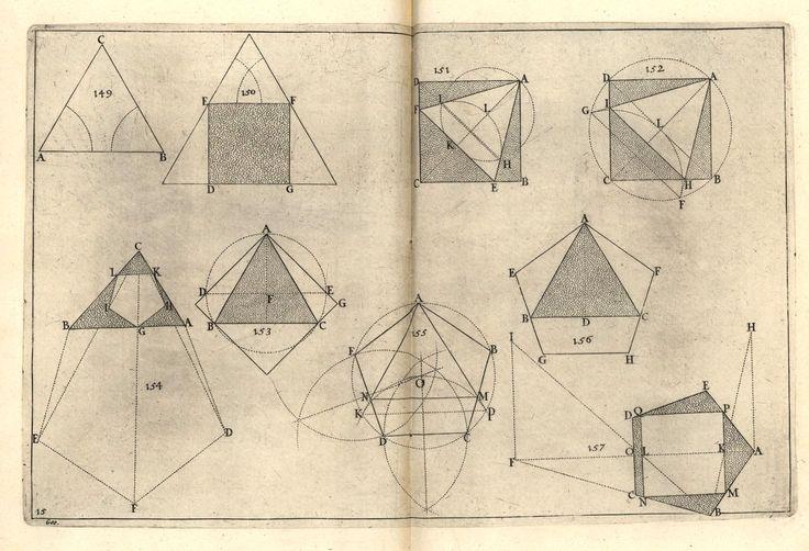 Costruzione di figure geometriche piane a partire da una figura data #geometria #figura #forma #illustrazione