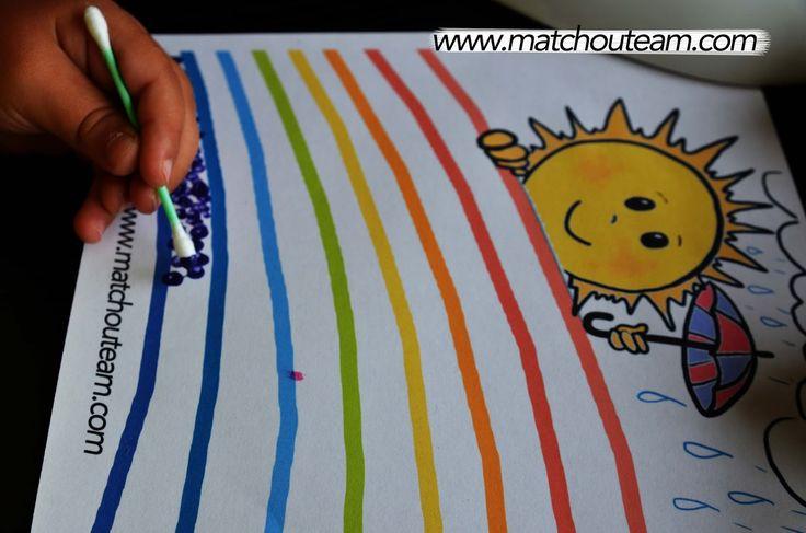 Un joli coloriage pour s'amuser avec les couleurs et suivre des lignes