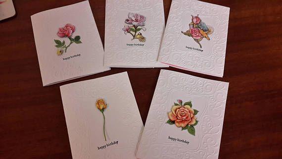 Boxed Set of Beautiful Handmade Australian Floral Greeting