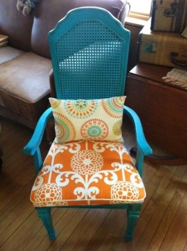 redone chair--fun colors!! I already have the chair to diy to