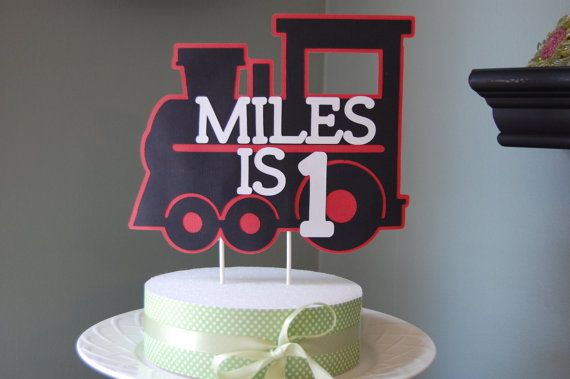 Train Cake Topper Train Smash Cake Train Party by GiggleBees, $10.00