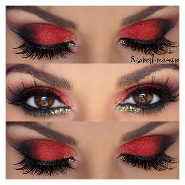 red eye by sabellamakeup liked on polyvore featuring beauty products makeup eye makeup - Eyeshadow For Halloween