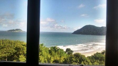 PRAIA DO DRAGÃO - GUARUJÁ : Guarujá Praia do Tombo Apartamento com vista pro m...