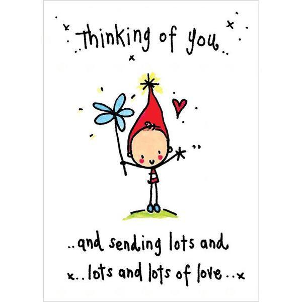 """Thinking Of You Lots Of Love"" Card – Niki Boyartchuk"