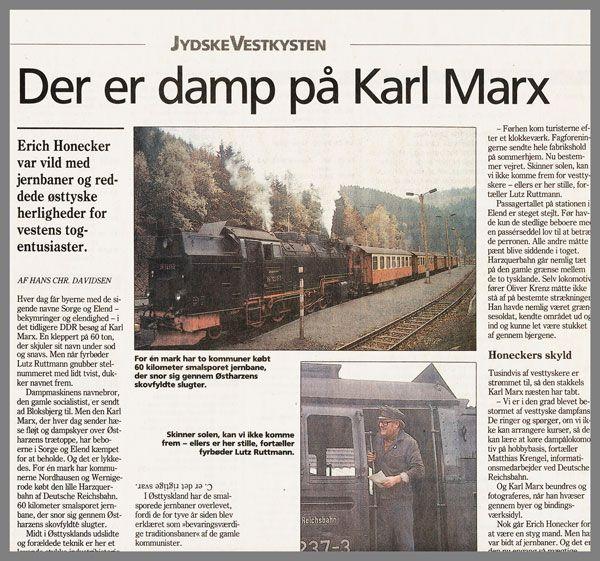 Reportage om Deutsche Reichsbahn i Harzen.