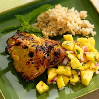 Curried Chicken with Mango Salad Recipe..