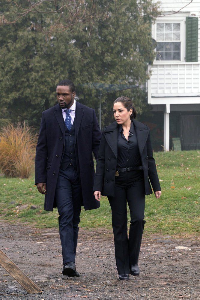 "BLINDSPOT -- ""Named Not One Man"" Episode 213 -- Pictured: (l-r) Rob Brown as Edgar Reade, Audrey Esparza as Tasha Zapata -- (Photo by: Barbara Nitke/NBC)"