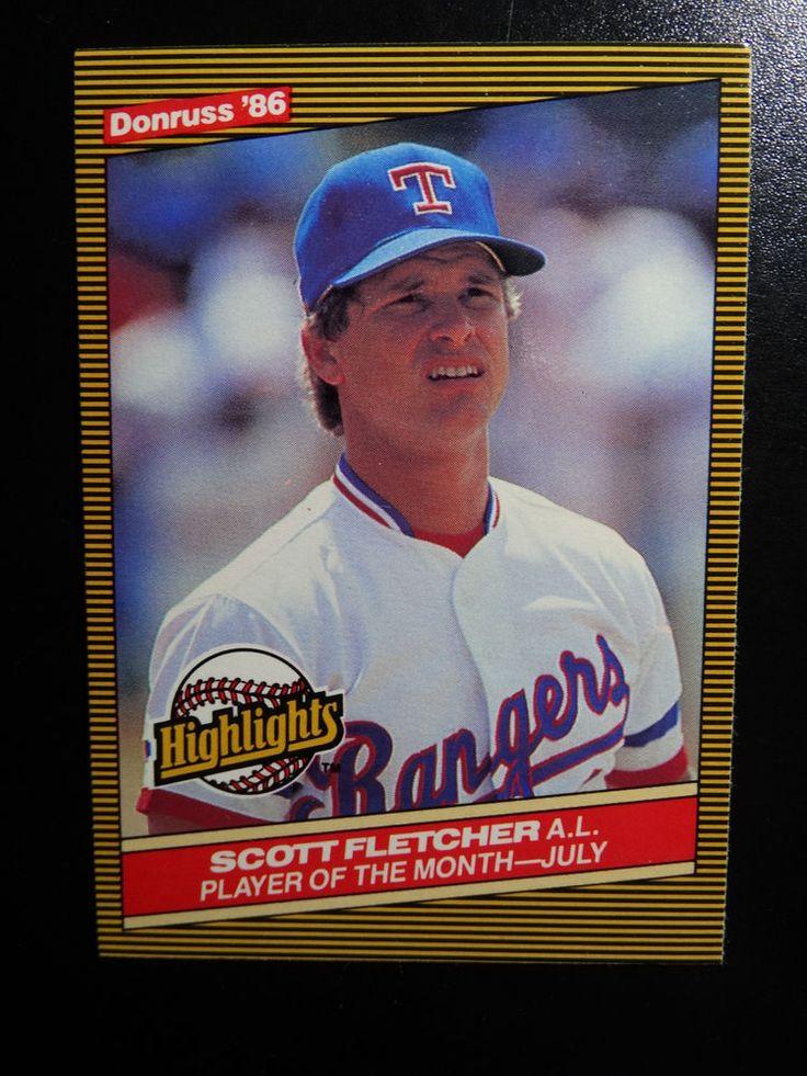 1986 Donruss Highlights #28 Scott Fletcher Texas Rangers Baseball Card #TexasRangers