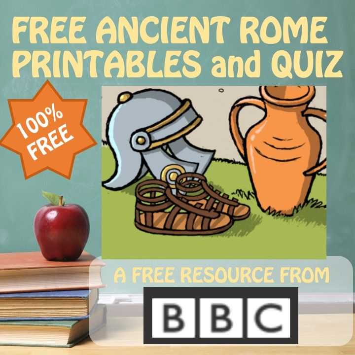 A bunch of free printables on ancient Rome from the BBC. Materials cover a range of levels, and could be used for 3rd, 4th, 5th, 6th, 7th, 8th, and 9th grade social studies units on ancient Roman history.