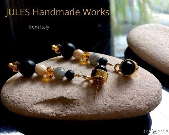 Onyx, agate and crystals in a row, with love