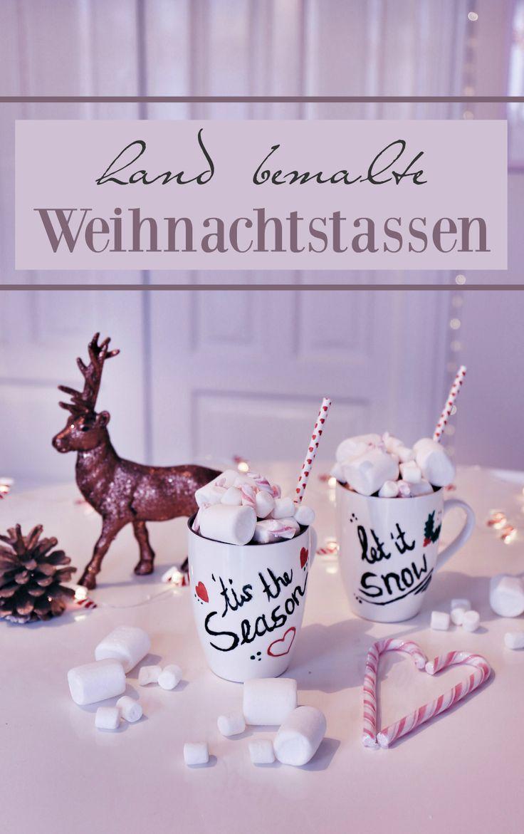hand bemalte Weihnachtstassen, DIY Weihnachtstassen, selbstgemachte Weihnachtstassen, DIY Christmas mugs, DIY Christmas cups, hand painted Christmas mugs