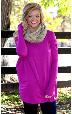 Long Sleeve Piko in Orchid