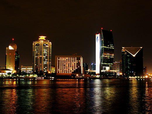 Dubai+Skyline+at+Night | The magnigficent Dubai skyline at night.