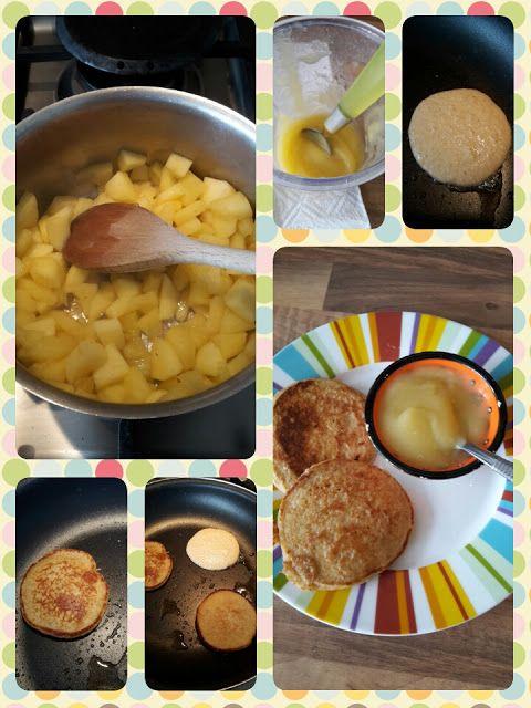 Lekker en leuk!: Havermout pancakes met appelmoes