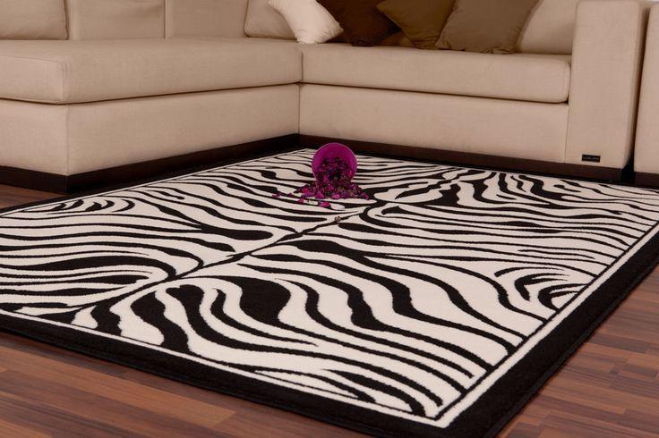 Teppich Fußboden Design USA-Housten Schwarz/Weiß 80cmx150cm A100962 Poly