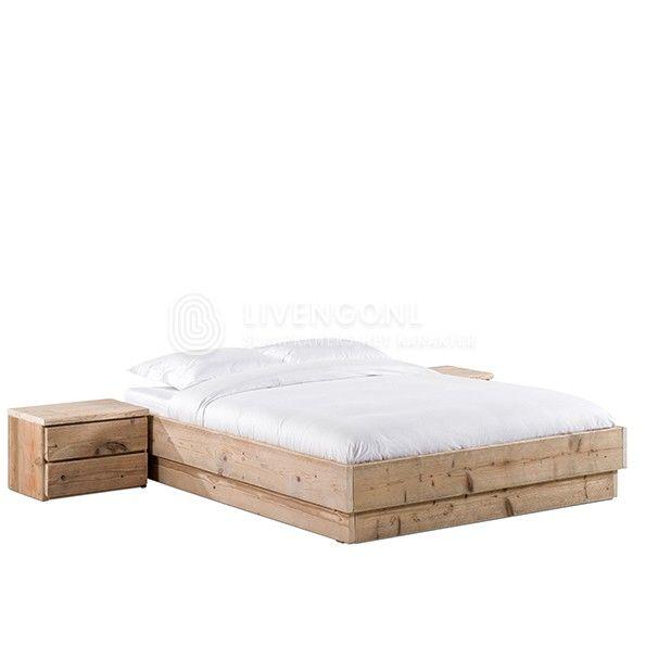 Steigerhouten bed 'Bando' | scaffolding wood bed 'Bando' | http://www.livengo.nl/steigerhouten-bed/steigerhouten-volwassen-persoonsbedden/steigerhouten-bed-bando | #steigerhout #bed #nachtkastjes #slaapkamers #livengo