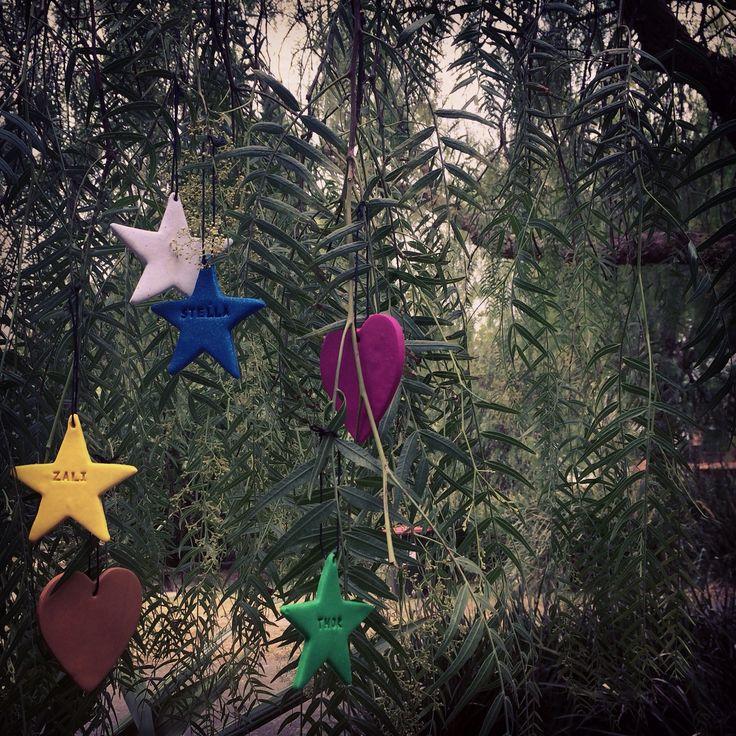 Handmade personalised Christmas decorations pack
