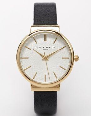 Olivia Burton Hackey Black Midi Dial Watch