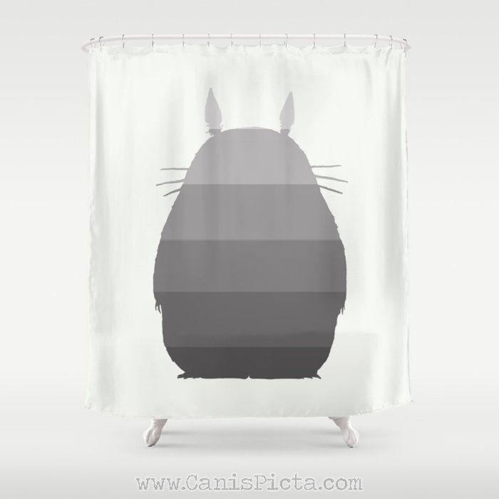 My Ombre Totoro Shower Curtain 71 X74 Studio Ghibli Home Decor