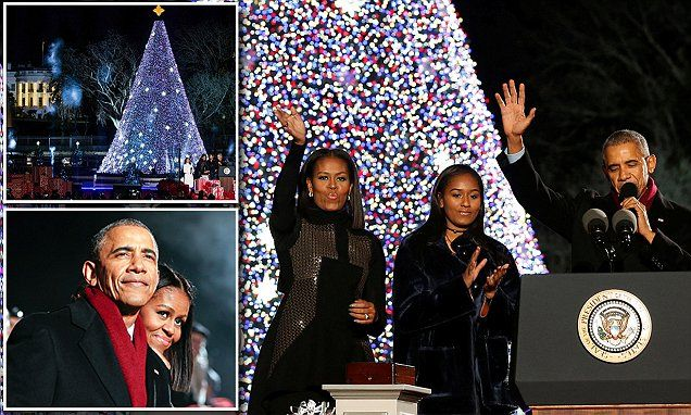 The First Family lights the National Christmas Tree at the White House