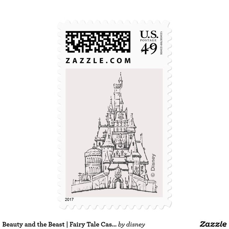 Beauty and the Beast | Fairy Tale Castle Wedding Postage