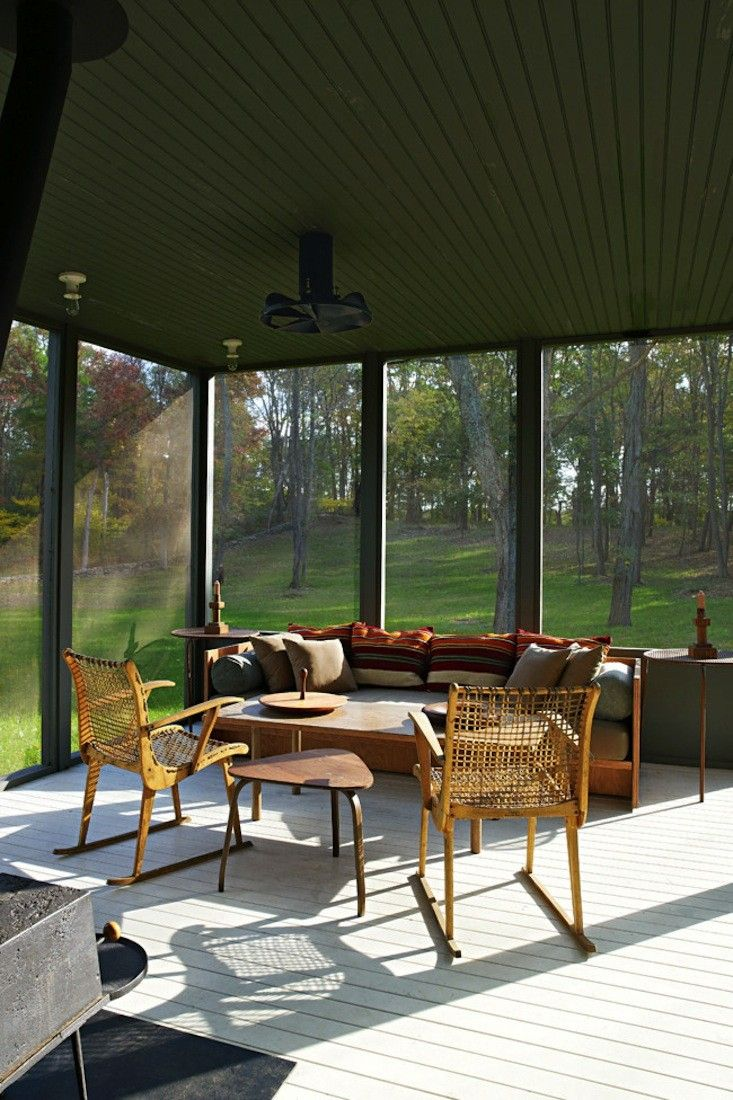 Replicate the look of an antiques-filled summer porch designed by architects Calvin Tsao and Zack McKown.