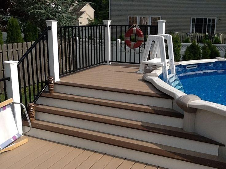 above ground pool deck 1 picture 1109 deckscom