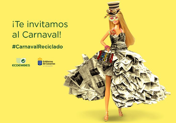 """""""¿Tienes imaginación y ganas de pasártelo bien estos #Carnavales? Ponte manos a la obra y diseña tu propio disfraz con materiales reciclados y participa en el concurso de Ecoembes  ¡El #carnaval canario quiere verte reciclado/a!"""" #CarnavalReciclado #Canarias"""