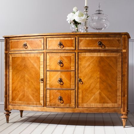 Frank Hudson Spire six drawer with 2 door sideboard inspired by French Renaissance designs. £1,348.00 Shop > http://www.beau-decor.co.uk/dining-room-furniture/frank-hudson-spire-six-drawer-with-two-door-sideboard