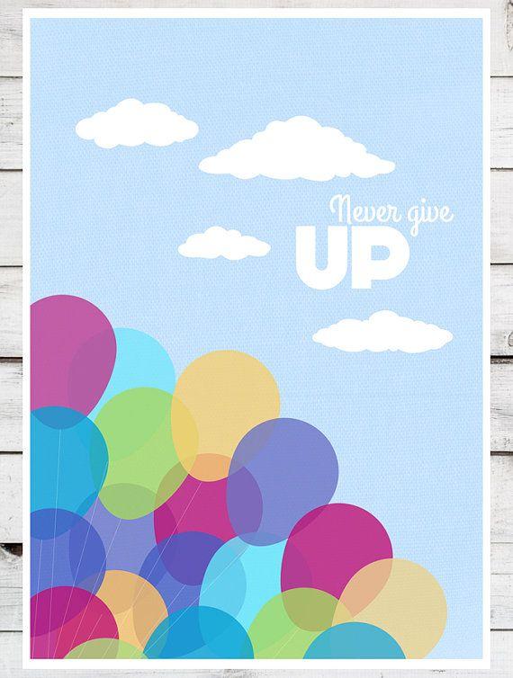 Disney Pixar Up SET of two Balloons Paradise by TeacupPiranha