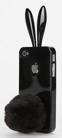 Cute black bunny case! Reminds me of Ariana Grande