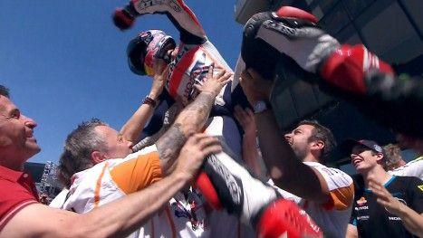 MotoGP ~ GP LeMans ~ MARC MARQUEZ / motogp.com · Brilliant Marquez makes it five in a row / May 18, 2014 http://www.motogp.com/en/news/2014/Le+Mans+MotoGP+Race+Marquez