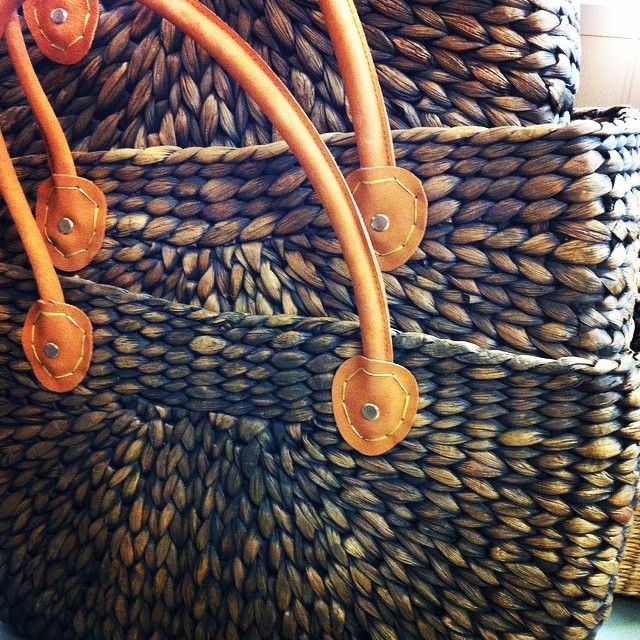 Handmade Water Hyacinth Baskets from North Vietnam now @5iftyboutique #organic #greatgifts #under$45