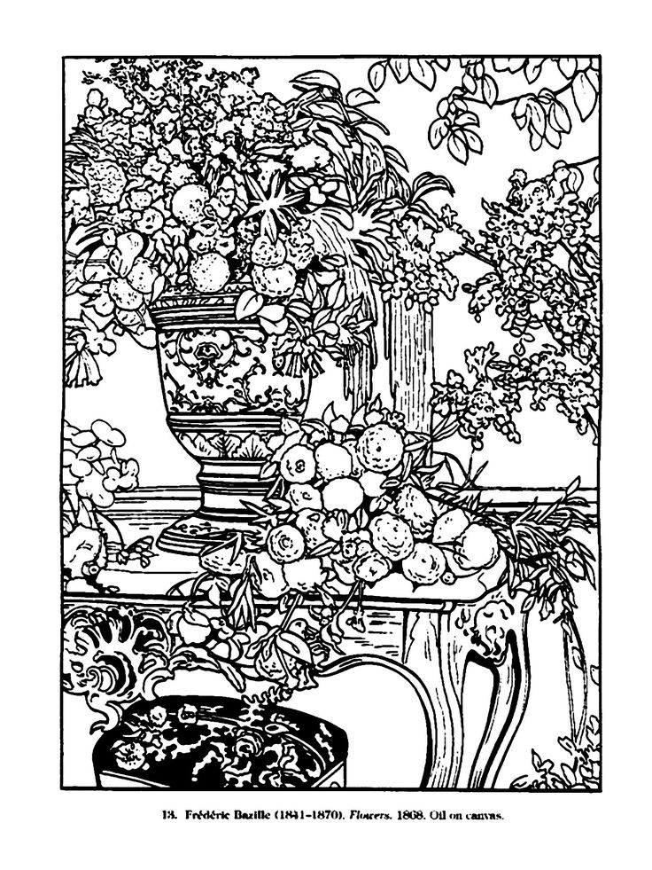 Colouring Pages Of Flowers In Vase : 1320 best coloring pages for adults images on pinterest