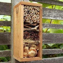 A bug hotel is part garden art and part winter habitat for beneficial insects…