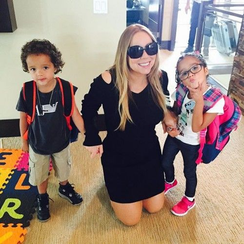Mariah Carey's Twins: First Day Of Summer School