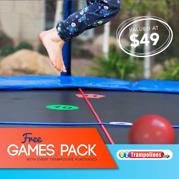 New to Oz Trampolines with hours more fun for your kids on the trampoline as they use their imagination to invent games to play on the trampoline. Develop balance and co-ordination