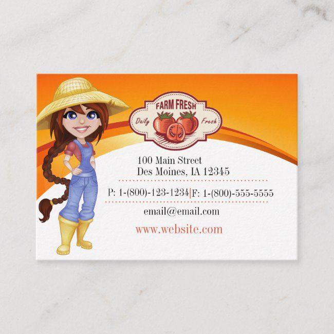 Farm Fresh Produce Business Card Zazzle Com Farm Fresh Produce Fresh Produce Farm Business