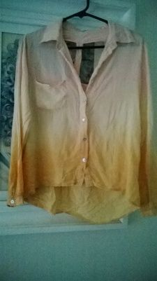ValleyGirl Cut Out Ombre Shirt Sz 8