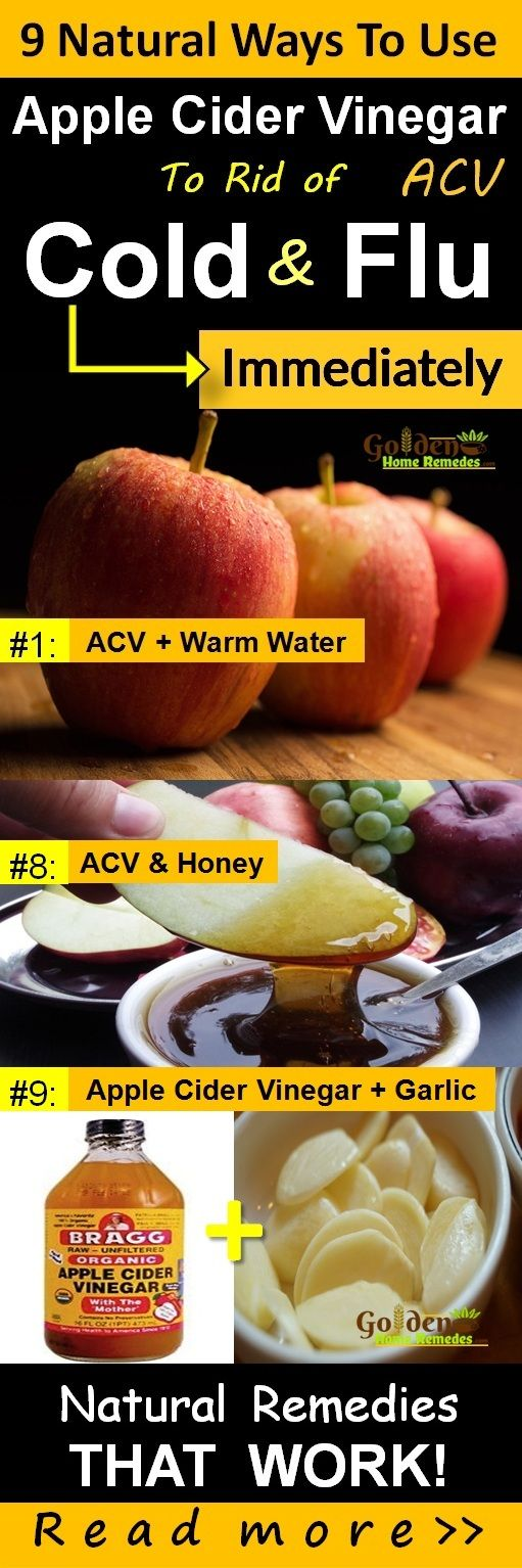 Apple Cider Vinegar for Cold and Flu, How To Get Rid Of Cold: 9 Natural Remedies That Work Fast to Cure Cold with Apple Cider Vinegar, Common Cold Treatment At Home, Cold: Causes, Symptoms and Treatments. Cold is an uncomfortable problem faced by many of us at least once in our life time. Apple Cider Vinegar alkalizes the body making it difficult for the cold virus to sustain. The amount of potassium present in it helps in thinning the mucus. However in some cases, cold can lead to throat…