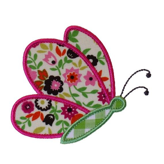 Butterfly Flying By Appliques Machine Embroidery Designs Applique Pattern in 3 sizes 4, 5 and 6 via Etsy