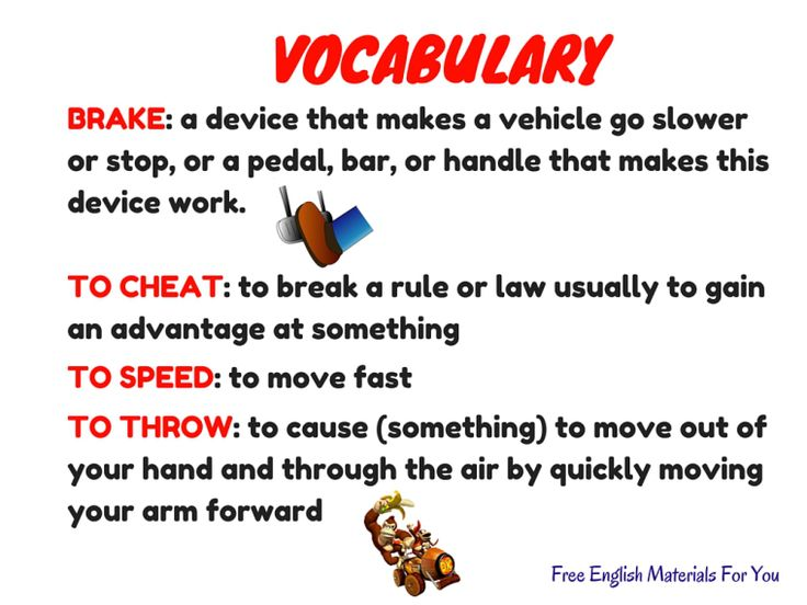 VOCABULARY LIST - episode 6 - English4Gamers - Free English Materials For You - Super Mario Kart (2).jpg