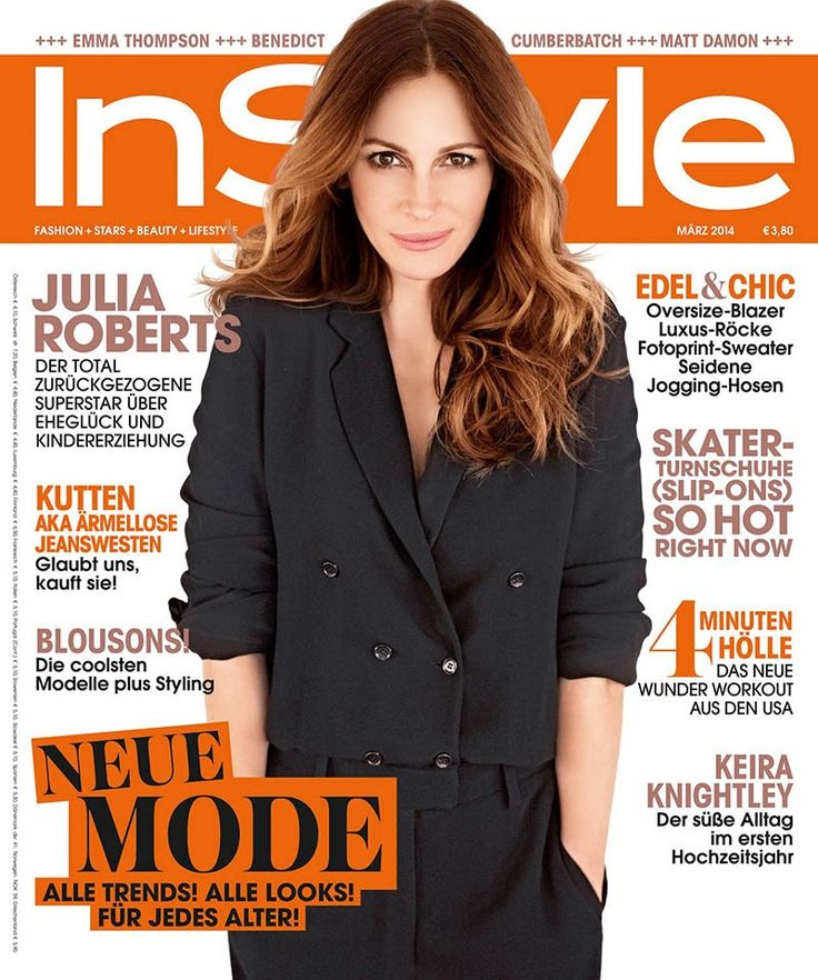 magazine-photoshoot : Julia Roberts Photos from InStyle Germany Magazine Cover March 2014 HQ Scans