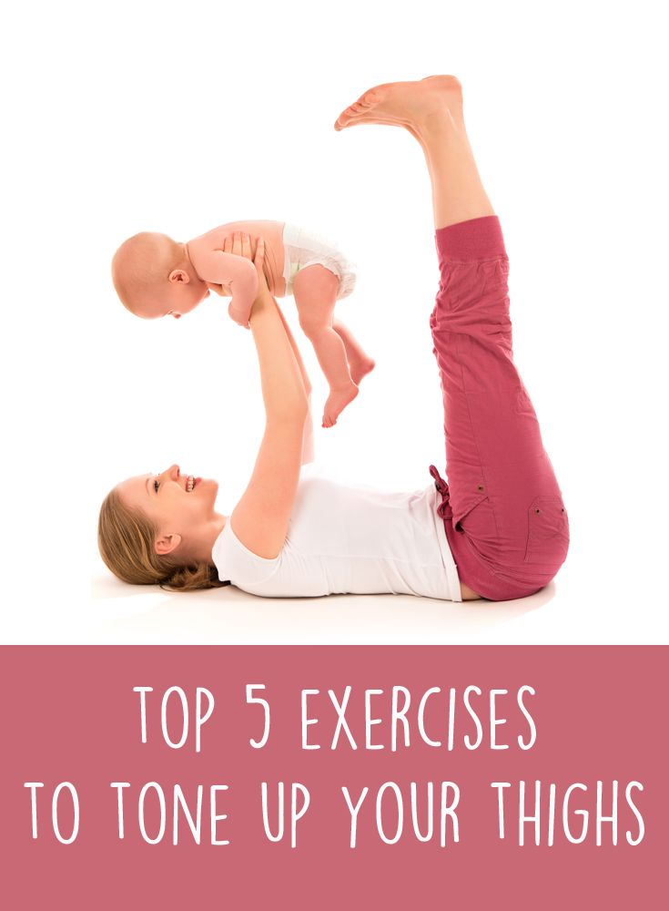 Best exercises to tone up your thighs. FitMama App's workouts that suit busy mummy time. Please consult your physician before beginning a  yoga or fitness regimen, especially if you've just had a baby and/or experience postpartum body issues.