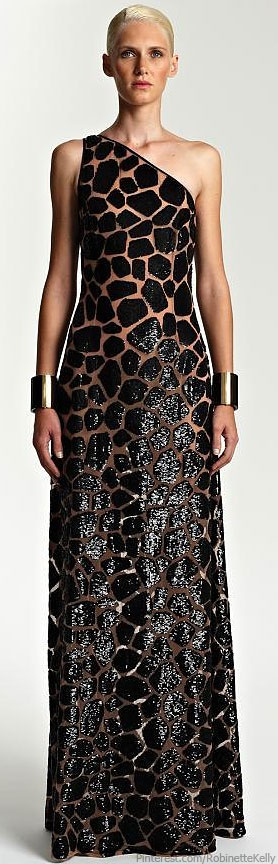 Giraffe Print Dress Michael Kors | Resort 2014 Animalistic Style Inspiration Apparel Clothing Design #UNIQUE_WOMENS_FASHION