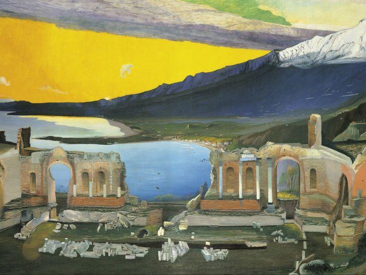 Csontváry Kosztka Tivadar: A taorminai görög színház romjai, MNG, 1904-05