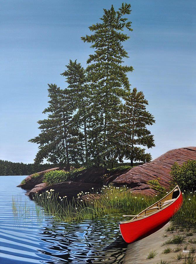Georgian Bay Beached Canoe by Kenneth M Kirsch: Artist Website
