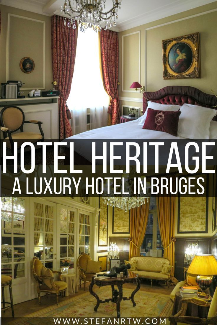 Planning a trip to Bruges? Then you'll definitely want to check out the beautiful Relais et Chateaux Hotel Heritage. This is the best hotel in the city and a fine place to stay if you're looking for a luxury hotel in Bruges. In this post I go over an in-depth review of the hotel and what you can expect if you're hoping to stay here! #bruges #luxury #luxuryhotels